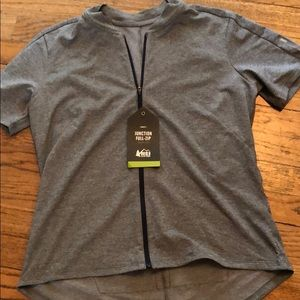 REI zipper jersey gray size L new with tags